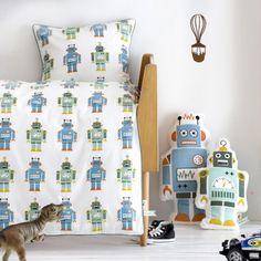 Øko baby Robot sengetøj i miljø fra Ferm Living