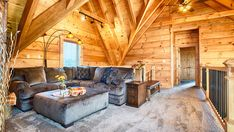 From the chef's kitchen to wine cellar, this log home is one rustic retreat you have to see to believe.