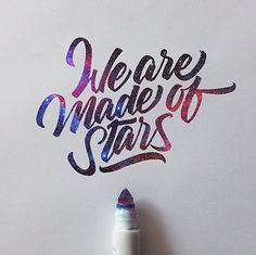 Many examples of beautiful lettering (Crayola marker)