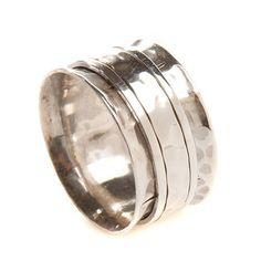 silver karma spinning ring by charlotte's web | notonthehighstreet.com