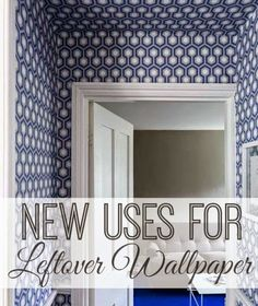New Uses for Wallpaper | www.inspirationformoms.com #sixonsaturday #newusesforthings #wallpaper #DIY