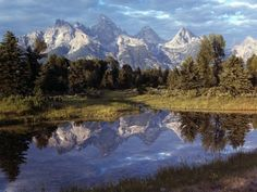 OP listed this as Yellowstone, but I've been corrected - it's Grand Teton National Park, which is equally breathtaking.