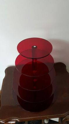 Transparent Red Cupcake Stand