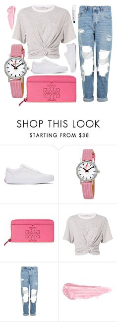 """Pink Cloud"" by jomashop ❤ liked on Polyvore featuring Vans, Mondaine, Tory Burch, T By Alexander Wang, Topshop, By Terry, L:A Bruket and Pink"
