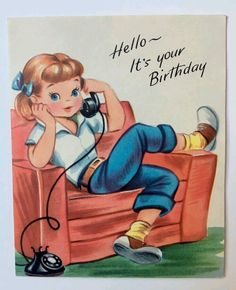 first birthday decoration ideas Happy Birthday Images, Happy Birthday Greetings, Birthday Messages, Birthday Pictures, It's Your Birthday, Birthday Quotes, Retro Birthday, Birthday Crafts, Vintage Birthday Cards