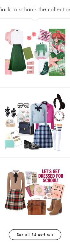 """""""Back to school- the collection"""" by lujzazsu ❤ liked on Polyvore featuring WearAll, Marissa Webb, Barena, Kenneth Jay Lane, GetTheLook, school, SailorJupiter, Dsquared2, Kate Spade and Pusheen"""
