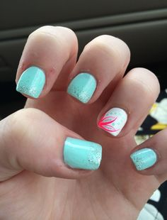 Seriously thinking about getting something like this done but without the glitter. Nails, acrylic nails, fake nails, nail art.