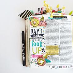 Yay!!! Was finally able to dive into blessings or lessons - the latest kit from @illustratedfaith and @dayspringcards featuring my sweet friend @stephaniesmokey  I loved day one - loved it! It was another push to do something I have been working on this year - making intentional connections. God doesn't call us to go out into this world and sit on an island (as lovely as that sounds sometimes! ) He calls us to connect - to do life together and to intentionally connect! I love that this…