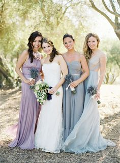 More pics of this bride and her lovely ladies - can you tell we're slightly obsessed? More of the wedding on SMP: http://www.StyleMePretty.com/2014/03/04/elegant-outdoor-wedding-in-kenwood-california/ Photography: Jose Villa