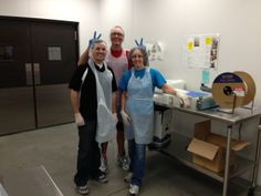 Chip, Chad and Sue donating their time at Loaves and Fishes.  #community