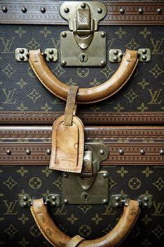 Louis Vuitton vintage trunks #suitcase #travel #bags #fashion
