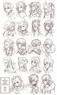 Fantasy, characters, girls, boys, cool, fairies, elves, demons; How to Draw Manga/Anime