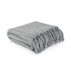 Cable Knit Tassel Throw to keep you warm on those nights when you are cuddling up with your grandson.