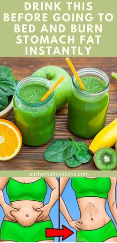 Drink This Before Going To Bed And Burn Stomach Fat Instantly - Herbal Medicine Burn Stomach Fat, Lose Belly Fat, Lose Fat, Stomach Fat Burning Foods, Lower Belly, Health Blog, Health Foods, Diet Foods, Banana Drinks