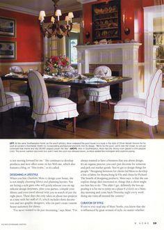 Richmond Home- Charlotte Moss...like the chairs...like the wall color