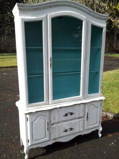 Hand Painted Shabby Chic French Provincial China Hutch on Etsy, $800.00