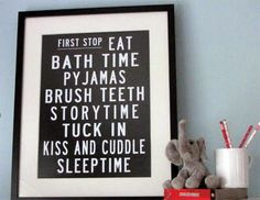 You can buy this Sleepytime Poster...though I may try to make one of my own :)