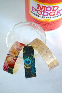 Bracelet making with popsicle sticks, Mod Podge and Craft Attitude