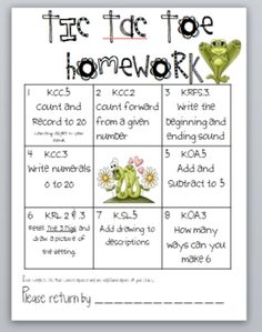 1000+ images about Homework on Pinterest | Kindergarten ...