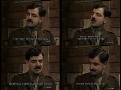 Blackadder Goes Forth British Sitcoms, British Comedy, Tv Quotes, Movie Quotes, Blackadder Quotes, Monty Python, Comedy Tv, Funny As Hell, Classic Tv