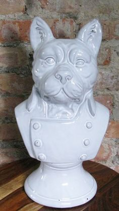 FRENCHIE Ceramic Bust