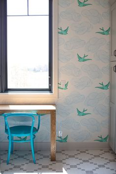 Laundry room with Daydream wallpaper
