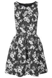 **Floral Print Skater Dress by Wal G