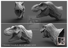 NEW T-REX HEAD by GIU3232.deviantart.com on @deviantART
