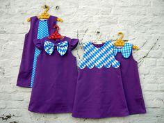 Samen by Ik ben Vink, via Flickr Little Girl Outfits, Little Girl Dresses, Kids Outfits, Girls Dresses Sewing, Sewing Clothes, Sewing For Kids, Baby Sewing, Kids Frocks, Diy Dress