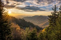 Sunrise in the Great Smoky Mountains, Tennessee  #South #Southern