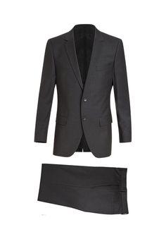 Klassischer Anzug aus hochwertiger Schurwolle-dunkelgrau von HUGO bei OUTLETCITY.COM bestellen.