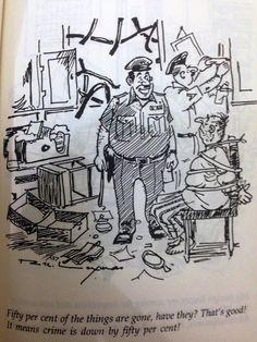 R.K. Laxman's Cartoons: Police Station & Police on duty - 2