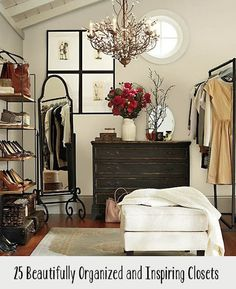 Get a head start on spring cleaning with helpful tips and beautiful inspiration for organizing your closet.