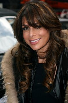 Paula Abdul Long Wavy Cut with Bangs - Paula showed off her radiant long curls and wispy bangs while out and about in New York City. Long Curly Hair, Wavy Hair, Modern Hairstyles, Easy Hairstyles, Wispy Bangs, Hair Streaks, Long Curls, Haircut And Color, Great Hair