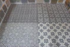 Encaustic cement tile floor by Le Mosaiste