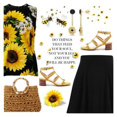 """""""Feed Your Soul"""" by majezy ❤ liked on Polyvore featuring River Island, Cappelli Straworld, Dolce&Gabbana, Sole Society and Versace 19•69"""