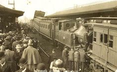Train Crash at Richmond Railway Station On this day …… July 1910 steam engine No. 494 with passenger carriages attached ran into the back of another passenger train at the platform. Melbourne Suburbs, Australian Continent, Melbourne Victoria, Largest Countries, Melbourne Australia, Historic Homes, Train Station, Historical Photos, Aussies