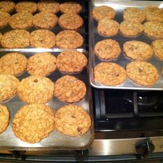 Made oatmeal raisin and chocolate chip cookies from scratch