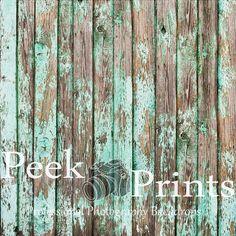 7ft.x7ft. Peeling Teal Painted Wood Floor Vinyl by PeekPrints