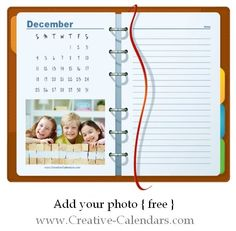 Photo Calendar Use our free calendar maker to create this printable photo calendar in minutes. January  February March April May June July August September October November December Other Calendars you might like: Monthly Planners Monthly Planner 2016 Hello Kitty Photo Calendar