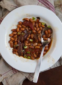 Baked Beans with Pineapple and Bacon