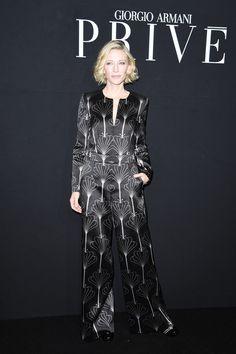 Cate Blanchett Photos Photos - Cate Blanchett attends the Giorgio Armani Prive…