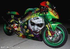THE JOKER CUSTOM HONDA MOTORCYCLE Batman-Themed Madness!