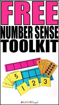Do your kiddos have a number sense kit at the ready for use during small or whole group math activities? If not, I've put together a FREE number sense starter kit that you can download, print, and sta