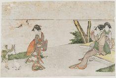 Artist: Katsushika Hokusai Title:Women and Child with Puppy
