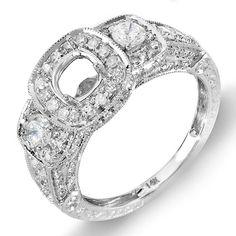 1.25 Carat (Ctw) 14k White Gold 3 Stone Ladies Round Diamond Semi-mount Engagement Ring (No Center Stone) DazzlingRock Collection,http://www.amazon.com/dp/B004Z1V7DO/ref=cm_sw_r_pi_dp_oy3vsb0NQKH8SHAS