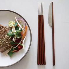 Kingston University graduate Wen Jing Lai has fused western and eastern cutlery to create a series of hybrid eating utensils.