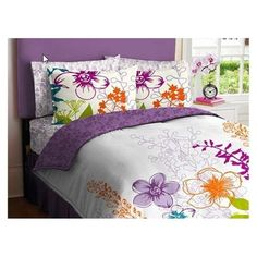orange and purple girls room - Google Search