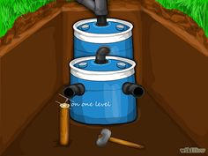 """HowTo construct a very small capacity septic system.  <3<3 our pins?  """"LIKE"""" us at: https://www.facebook.com/bound4burlingame to get camping tips, recipes, DIYs, outdoor ideas and sensational finds on your newsfeed."""