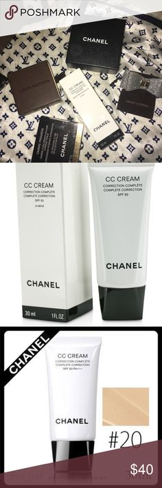 CHANEL CC CREAM #20-SWATCHED CHANEL CC CREAM. Tried once. Bought the wrong color. I love this stuff‼️‼️‼️ CHANEL Makeup Foundation
